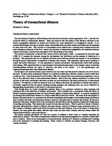 Theory of transactional distance