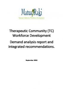 Therapeutic Community (TC) Workforce Development Demand analysis report and integrated recommendations