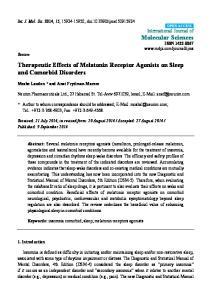 Therapeutic Effects of Melatonin Receptor Agonists on Sleep and Comorbid Disorders
