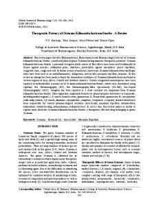 Therapeutic Potency of Ocimum KilimandscharicumGuerke - A Review