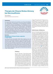 Therapie der Cheyne-Stokes-Atmung bei Herzinsuffizienz