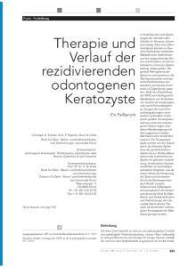 Therapie und Verlauf der. rezidivierender odontogener. Keratozyste