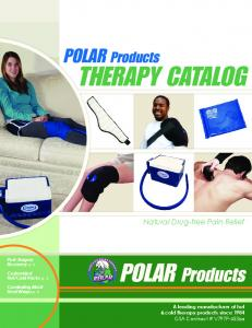 THERAPY CATALOG. POLAR Products. Natural Drug-free Pain Relief
