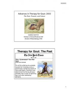 Therapy for Gout: The Past