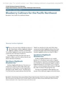There are five main types of blueberries grown in