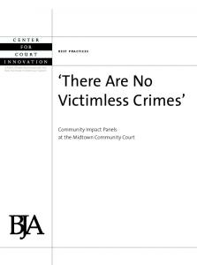 There Are No Victimless Crimes