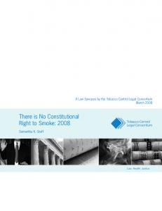There is No Constitutional Right to Smoke: 2008