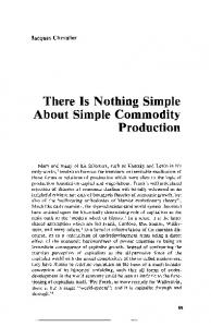 There Is Nothing Simple About Simple Commodity Production