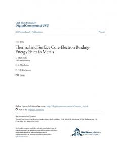 Thermal and Surface Core-Electron Binding- Energy Shifts in Metals