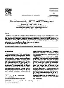 Thermal conductivity of PTFE and PTFE composites