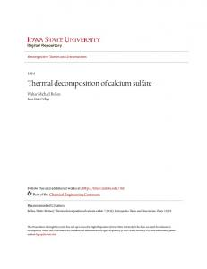 Thermal decomposition of calcium sulfate