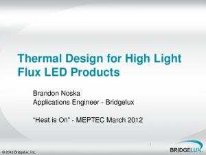 Thermal Design for High Light Flux LED Products