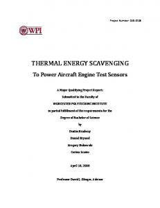 THERMAL ENERGY SCAVENGING