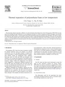 Thermal expansion of polyurethane foam at low temperature