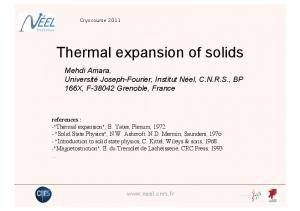 Thermal expansion of solids