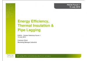 Thermal Insulation & Pipe Lagging