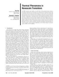 Thermal Phenomena in Nanoscale Transistors