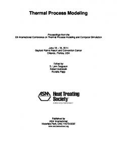 Thermal Process Modeling