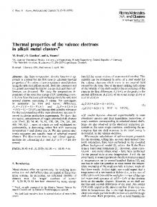 Thermal properties of the valence electrons in alkali metal clusters*