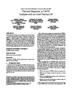 Thermal Response to DVFS: Analysis with an Intel Pentium M