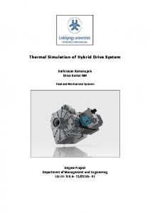 Thermal Simulation of Hybrid Drive System