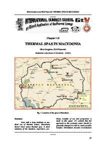 THERMAL SPAS IN MACEDONIA
