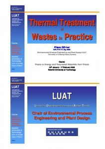 Thermal Treatment of Wastes Practice