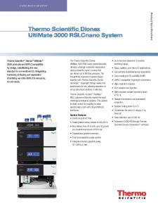 Thermo Scientific Dionex UltiMate 3000 RSLCnano System