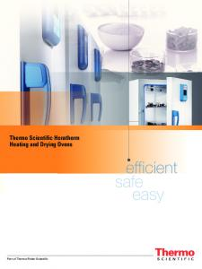 Thermo Scientific Heratherm Heating and Drying Ovens. efficient easy. Part of Thermo Fisher Scientific