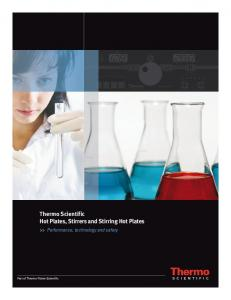 Thermo Scientific Hot Plates, Stirrers and Stirring Hot Plates