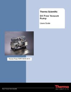 Thermo Scientific Oil Free Vacuum Pump
