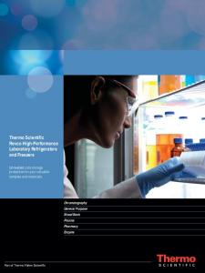 Thermo Scientific Revco High-Performance Laboratory Refrigerators and Freezers