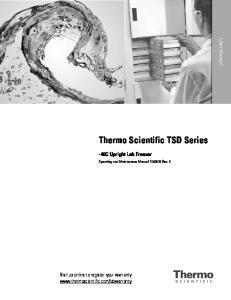 Thermo Scientific TSD Series