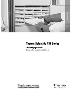 Thermo Scientific TSE Series
