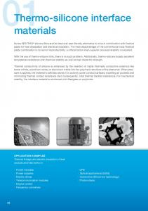 Thermo-silicone interface materials