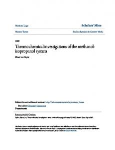 Thermochemical investigations of the methanolisopropanol