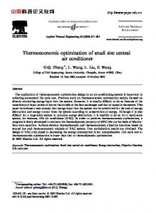 Thermoeconomic optimization of small size central air conditioner