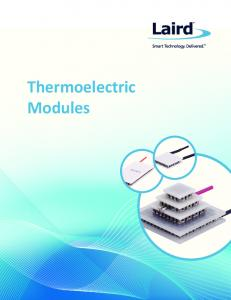 Thermoelectric Modules