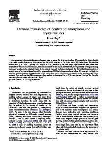 Thermoluminescence of deuterated amorphous and crystalline ices