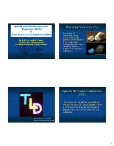 Thermoluminescence (TL)