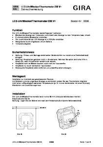 Thermometer 230 V~ Bestell-Nr.: