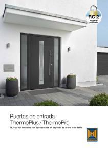 ThermoPro. NOVEDAD: Modelos con aplicaciones en aspecto de acero inoxidable
