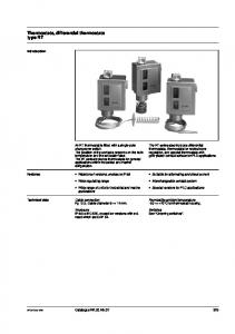 Thermostats, differential thermostats type RT