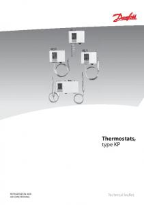 Thermostats, type KP REFRIGERATION AND AIR CONDITIONING. Technical leaflet
