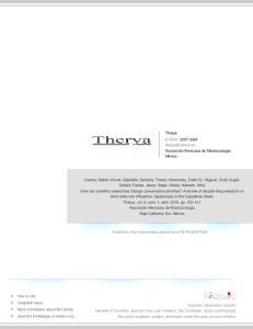 Therya E-ISSN: Asociación Mexicana de Mastozoología México