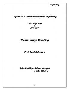 Thesis: Image Morphing