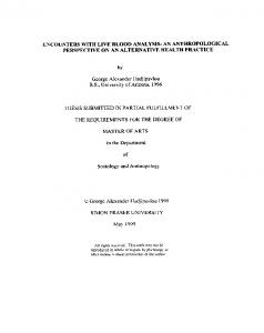 THESIS SUBMITTED in PARTIAL FULFILLMENT OF. in the Department