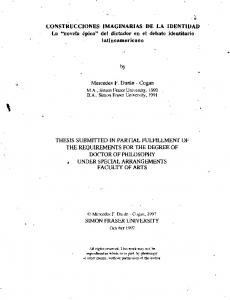 THESIS SUBMITTED IN PARTIAL FULFILLMENT OF THE REQUIREMENTS-FOR THE DEGREE OF DOCTOR OF PHILOSOPHY