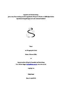 Thesis. zur Erlangung des Grades. Master of Science (MSc)