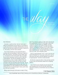 THEwayJUNE 2016 OUR JOURNEY TO STEWARDSHIP